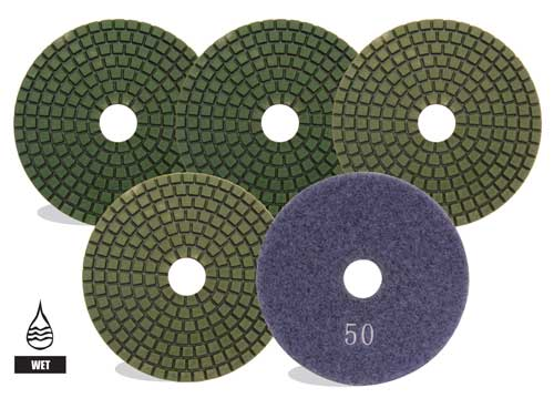"4"" WET POLISHING PADS"